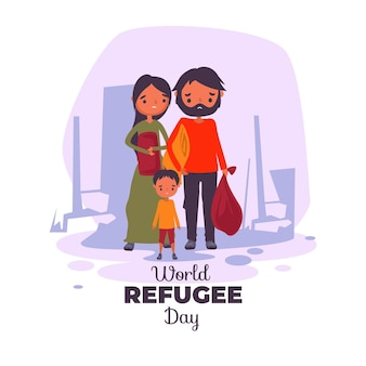 Giornata mondiale del rifugiato illustrata