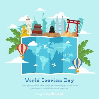 Giornata mondiale del turismo piatto