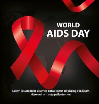Giornata mondiale dell'aids con nastro