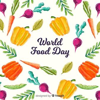 Giornata mondiale dell'alimentazione ad acquerello