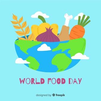 Giornata mondiale dell'alimentazione disegnata a mano