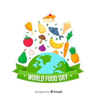 Giornata mondiale dell'alimentazione in design piatto