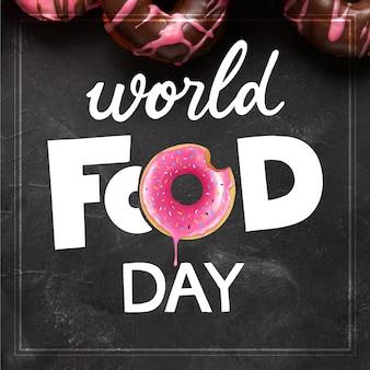 Giornata mondiale dell'alimentazione lettering design