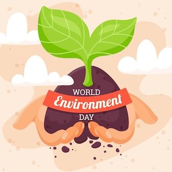 Giornata mondiale dell'ambiente con pianta