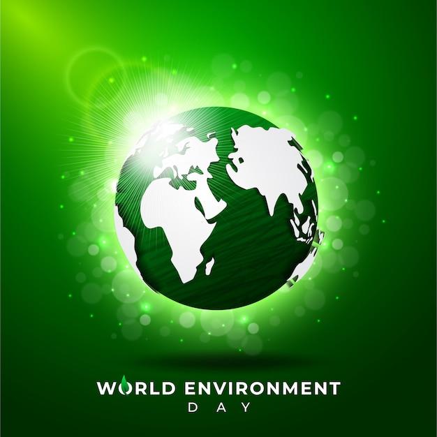 Giornata mondiale dell'ambiente sullo sfondo
