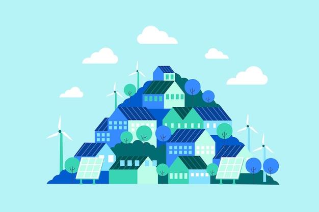 Giornata mondiale dell'habitat design piatto