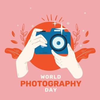 Giornata mondiale della fotografia con la fotocamera