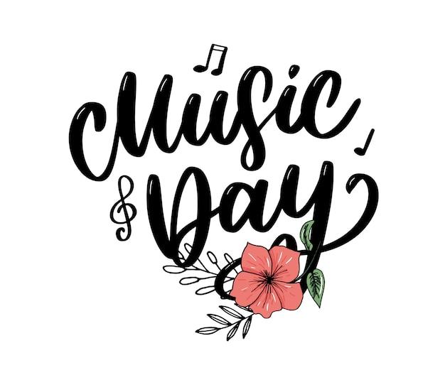 Giornata mondiale della musica lettering calligrafia