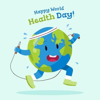 Giornata mondiale della salute carta da parati disegnata a mano