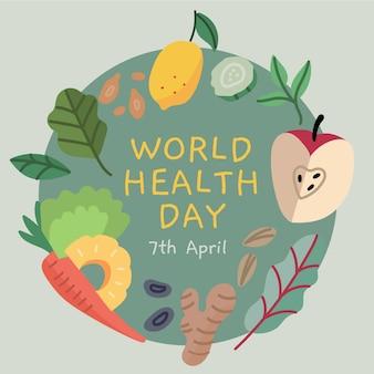 Giornata mondiale della salute con cibi sani