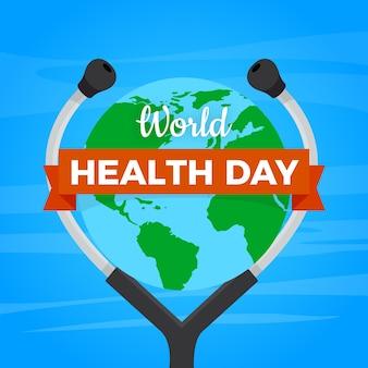 Giornata mondiale della salute design piatto