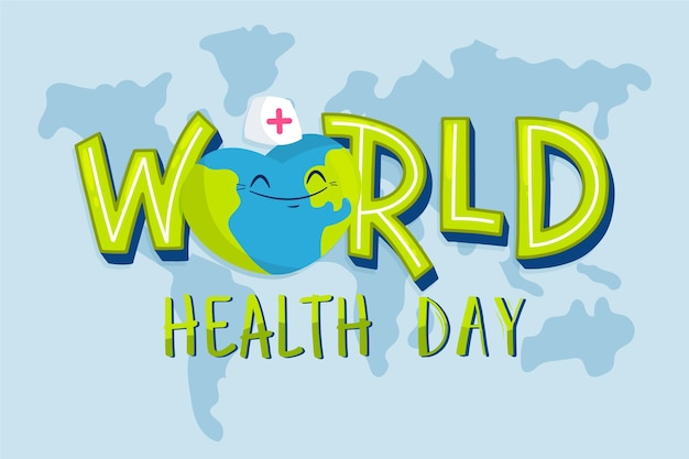 Giornata mondiale della salute in design piatto