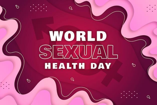 Giornata mondiale della salute sessuale sfondo
