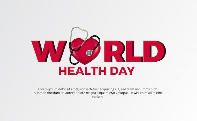 Giornata mondiale della salute. stetoscopio