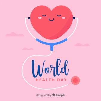 Giornata mondiale piatto salute sfondo