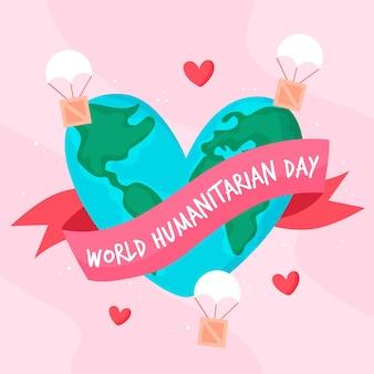 Giornata mondiale umanitaria disegnata a mano