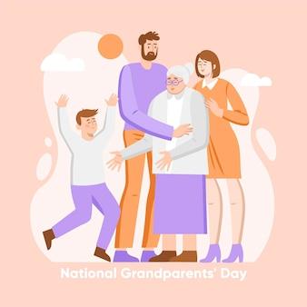 Giornata nazionale dei nonni design piatto