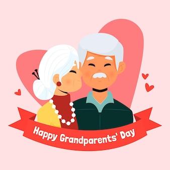 Giornata nazionale dei nonni disegnata a mano (usa)