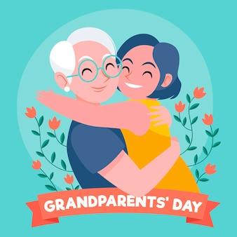 Giornata nazionale dei nonni disegnata a mano