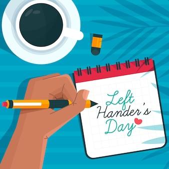 Giornata per mancini nel design piatto