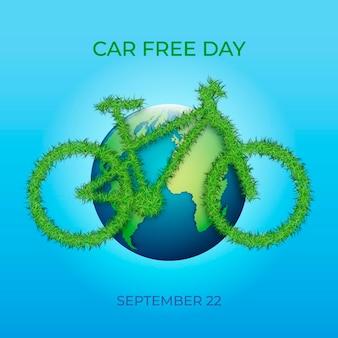 Giornata senza auto per il mondo realistico