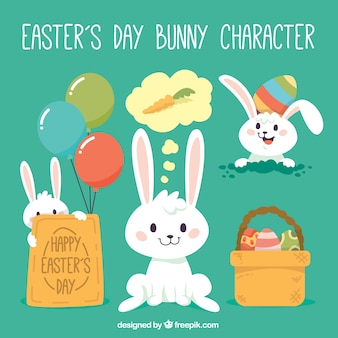 Giorno carattere coniglietto di Pasqua