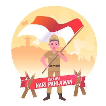 Giorno degli eroi pahlawan piatto