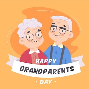 Giorno dei nonni nazionali del fondo disegnato a mano