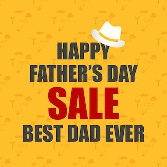 Giorno dei padri vendita felice papà di sfondo per il biglietto di auguri annuncio promozione poster flier blog articolo social media marketing sfondo vettoriale