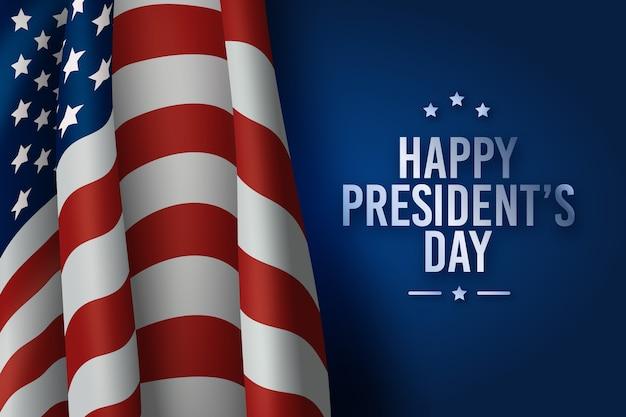 Giorno dei presidenti con la bandiera americana