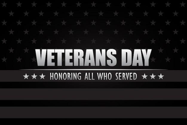 Giorno dei veterani. onorare tutti coloro che hanno servito.