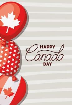 Giorno del canada con banner foglia d'acero