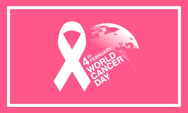 Giorno del cancro del mondo 4 febbraio sfondo.