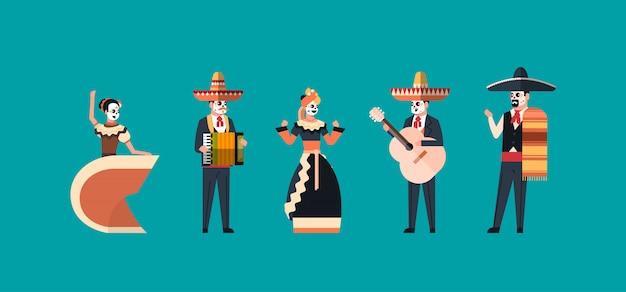 Giorno del morto messicano tradizionale banner di halloween