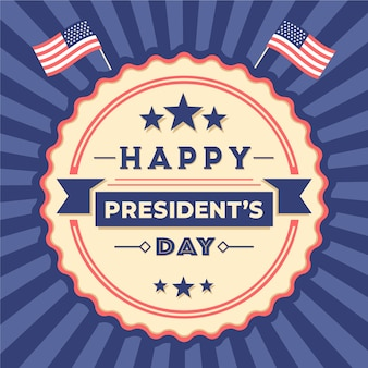 Giorno del presidente vintage colorato
