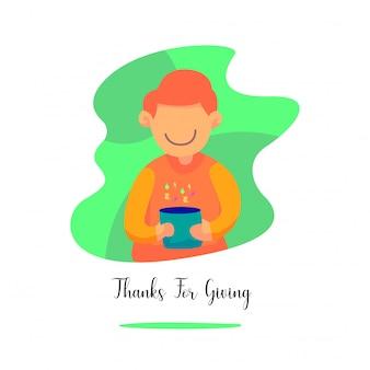 Giorno del ringraziamento adatto per felice ringraziamento