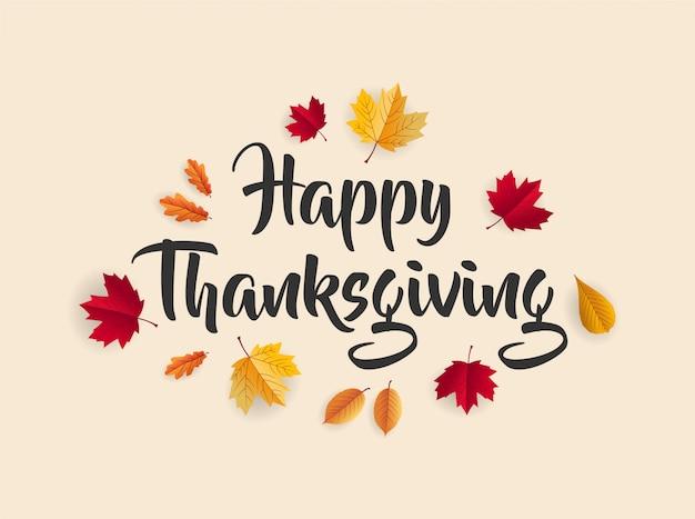 Giorno del ringraziamento lettering sfondo