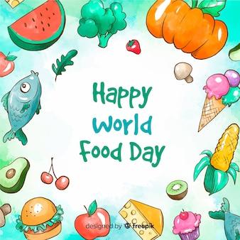 Giorno dell'alimento mondo felice dell'acquerello