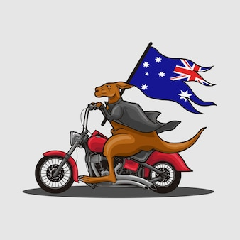 Giorno dell'australia del canguro del motociclo