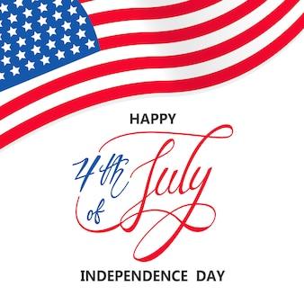 Giorno dell'indipendenza con bandiera usa