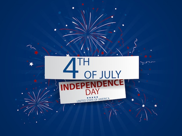 Giorno dell'indipendenza del 4 luglio di celebrazione degli stati uniti