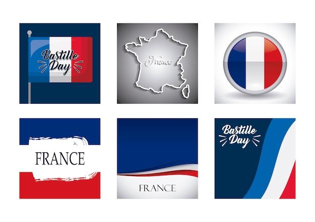 Giorno della bastiglia e design della francia