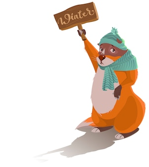 Giorno della marmotta. la marmotta triste ha predetto l'inverno