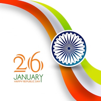Giorno della repubblica indiana 26 gennaio tiranga background