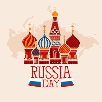 Giorno della russia di disegno