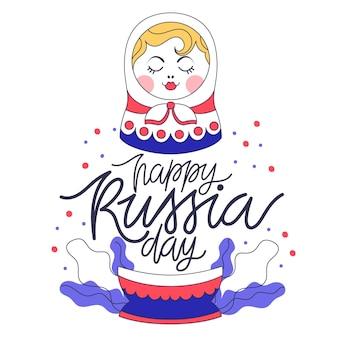 Giorno della russia disegnato a mano