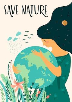 Giorno della terra. disegno vettoriale