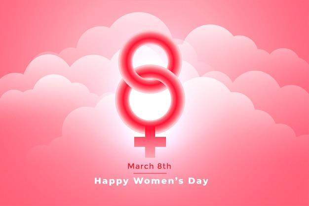 Giorno delle donne felici alla moda l'8 marzo bello fondo