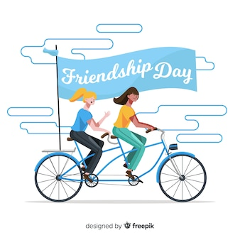 Giorno di amicizia felice disegnato a mano
