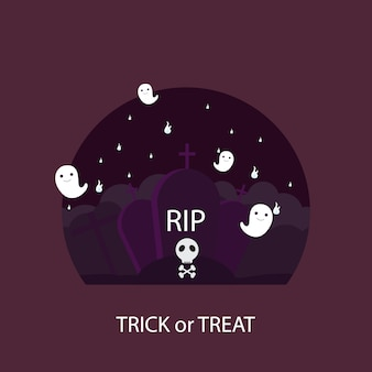 Giorno di halloween, dolcetto o scherzetto illustrazione